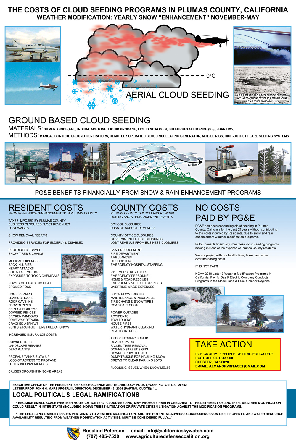 Plumas County, Cloud Seeder poster