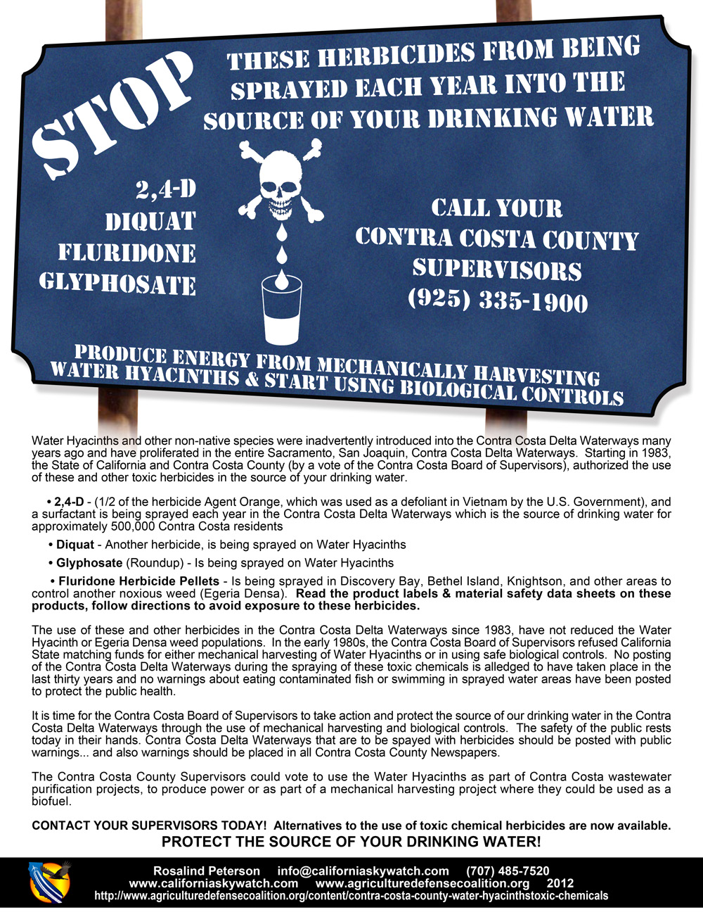 Contra Costa County - Drinking water flyer