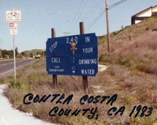 Sign from Costa Contra about waterhyacinth