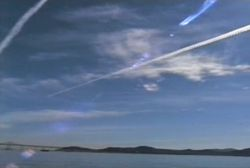Jet contrail over Marin and San Francisco by Tony Cox